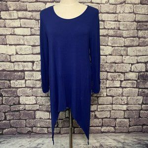 Chico's Blue Long Sleeve Top/Tunic Size M